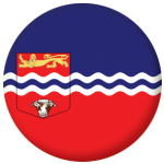 Herefordshire County Flag 58mm Mirror Keyring